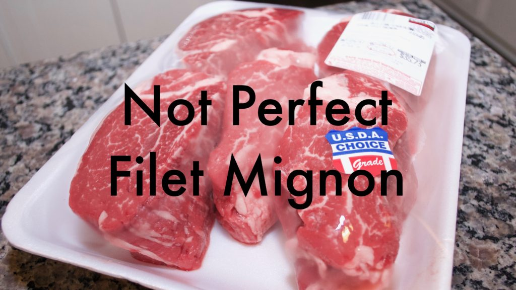 Poorly trimmed filet mignon from Costco